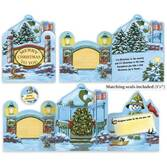 Your Town Square Christmas Card Set/20   Card Only Personalization