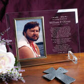 Personalized In Loving Memory Glass Picture Frame
