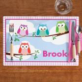 Personalized Owls Placemat