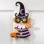 Owl Witch Metal Lawn Stake