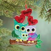 Personalized New Mom & Dad Owl Ornament