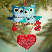 Personalized Owls' 1st Christmas Together Ornament