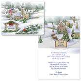 God Bless America Christmas Card Set of 20   Card Only Personalization