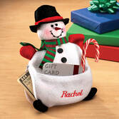 Personalized Snowman Money Gift Card Holder