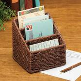 Wicker Letter Holder