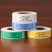 Colorful Address Labels - Roll Of 250