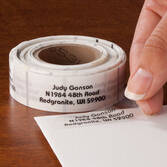 Clear Address Labels Roll - Roll of 250