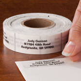 Clear Address Labels Roll - Roll of 500