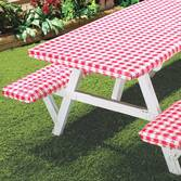 Checked Picnic Table Cover