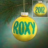 Personalized Name And Date Glitter Ornament