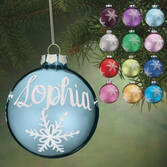Personalized Birthstone Glass Ball Ornament
