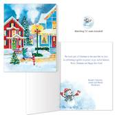 American Snowman Christmas Card Set of 20   Card Only Personalization