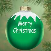 Personalized Merry Christmas Glass Ball Ornament   Plain