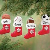 Personalized Sports Stocking Ornament