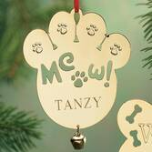 Personalized Meow Brass Ornament   Personalized