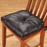 Faux Leather Chair Pad
