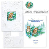 Barred Owl Happy Holidays Card Set of 20   Card Only Personalization