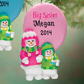 Personalized Big Sister Ornament Pers