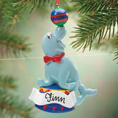 Personalized Circus Seal Ornament   Personalized