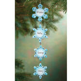 Personalized 4 Snowflakes Ornament Pers