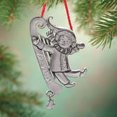 Personalized Pewter Sled Ornament Pers