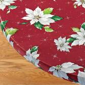Poinsettia Elasticized Table Cover