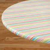 Pastel Easter Stripe Elasticized Table Cover  40