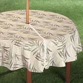 Patio Table Cover With Zipper - Fern Design