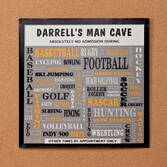 Personalized 12x12 Man Cave Metal Wall Plaque
