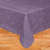 Paisley Vinyl Table Cover Blue 54