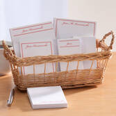 Personalized Classic Basketful of Notepads   Red