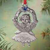 Personalized Pewter Birthstone Girl Ornament   Plain July
