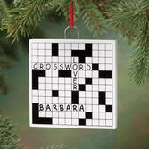 Personalized Crossword Puzzle Ornament   Personalized