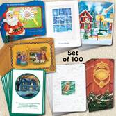 Assorted Christmas Cards Set of 100