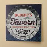 Personalized 12x12 Bottle Cap Metal Wall Plaque