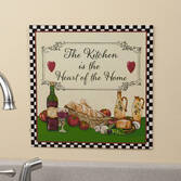 12 x 12 Heart of the Home Metal Wall Plaque