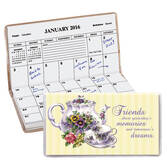 Personalized Teapot and Cup Two Year Planner
