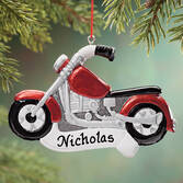 Personalized Motorcycle Ornament