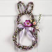 Bunny-Shaped Grapevine Wreath