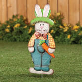 Metal Easter Bunny Boy Garden Stake by Maple Lane Creations™