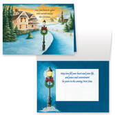 Winter Path Non Personalized Christmas Card Set of 20