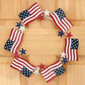 Metal Flag Wreath by Maple Lane Creations™