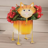 Metal Cat Planter by Maple Lane Creations™