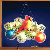 Cardinal with Ornaments Shimmer Light by Northwoods Illuminations™