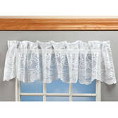 Magnetic Floral Lace Valance