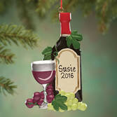Personalized Wine Bottle Ornament