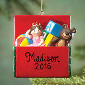 Personalized Toy Box Ornament   Personalized