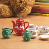 Personalized Christmas Doll Tea Set