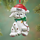Personalized Dog in Lights Ornaments