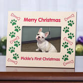 Personalized Merry Christmas Dog Frame